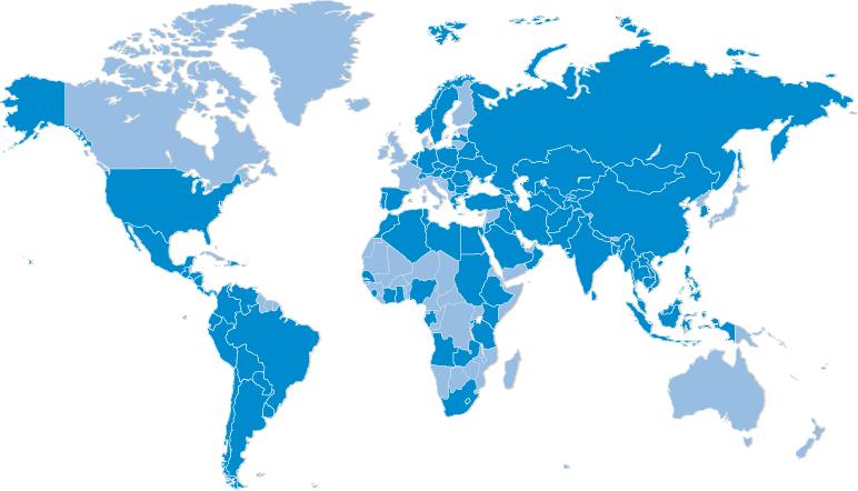 세계참여국 지도